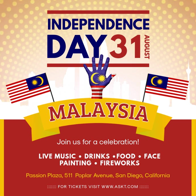 Malaysia Independence Day Party Invite