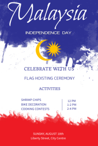 Malaysia Independence Day Poster Template