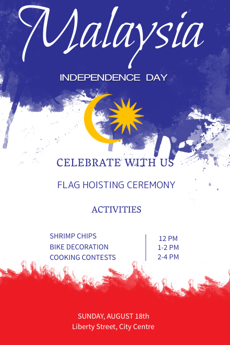 copy of malaysia independence day poster template