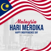 Malaysia Independence Day Social Media post template