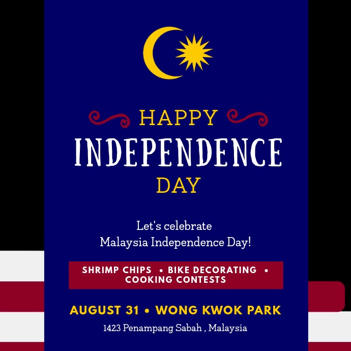Malaysian Independence Day Event Invite