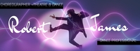 Male Choreographer Dance Facebook Banner template