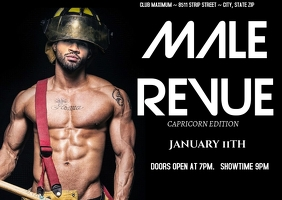 Male Revue Postcard template