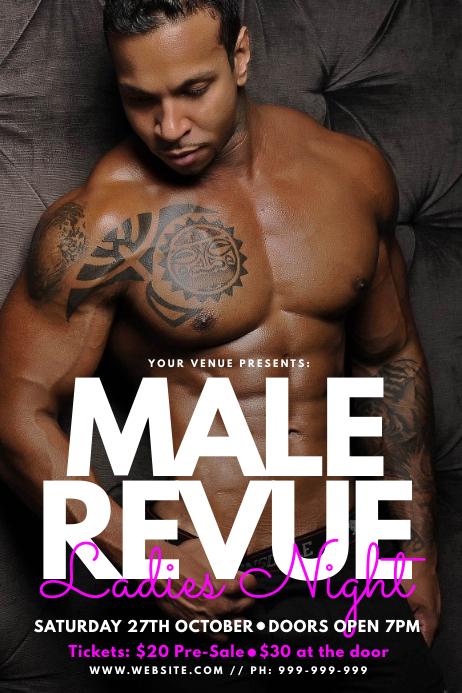 Male Revue Poster