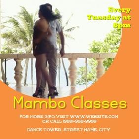 Mambo dance Class Square (1:1) template
