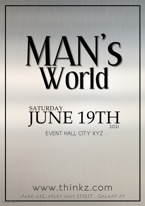 Man's World exhibition barber whisky store ad