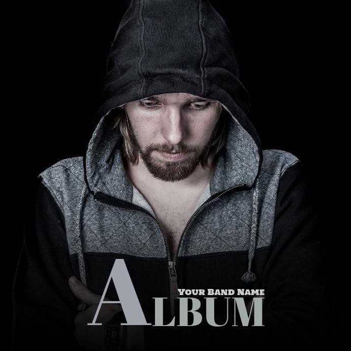 Man Dark Album Cover template