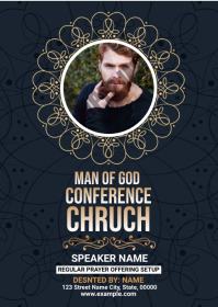 Man Of God Church Flyer A6 template