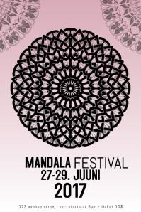 mandala festival fest poster template