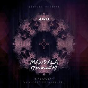 Mandala Symmetry Abstract CD Cover