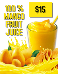 Mango Fruit Juice Flyer Template Folheto (US Letter)