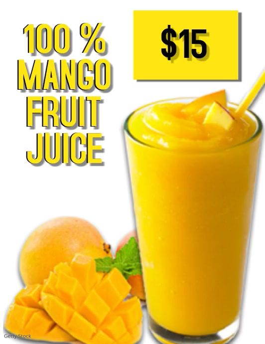 Mango Fruit Juice Video Flyer Template