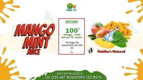 Mango Mint Fruit Juice Flyer Template Digital Display (16:9)