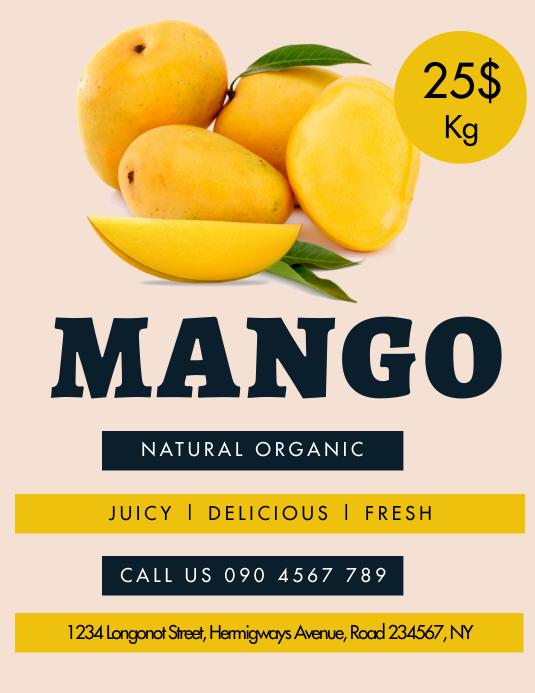 MANGO ORGANIC MARKET FLYER 传单(美国信函) template