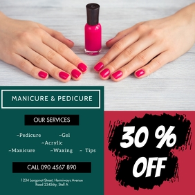 MANICURE AND PEDICURE FLYER Instagram Post template
