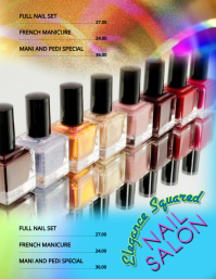 Manicure Mani Pedi Nail Art flyer template