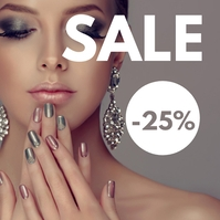 Manicure Nails design studio beauty advertise template