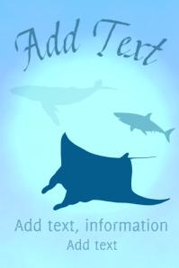 manta ray - whale - White Shark - in the sea - ocean scene
