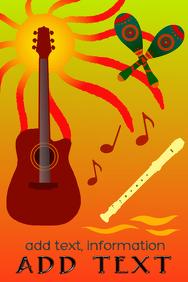 maracas recorder sun & acoustic guitar