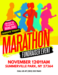 Marathon Fundraiser Event Flyer