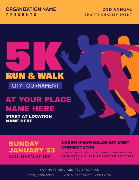 Marathon Run Flyer Template