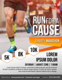 Marathon Run For a Cause Flyer