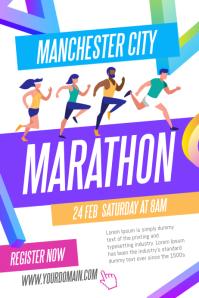 Marathon Run Fun Poster Template