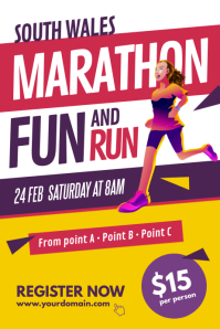 Marathon Run Fun Poster Template