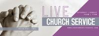 Marble Church Service Pastor Live Banner Cover na Larawan ng Facebook template