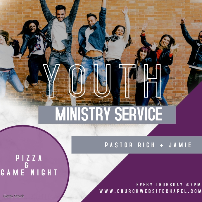 Marble Church Youth Ministry Ad Pos Instagram template