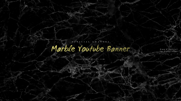 Marble Youtube Banner Template Postermywall
