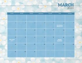 March 2020 Event Calendar Template