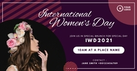 March 8 International Women's Day Facebook 共享图片 template