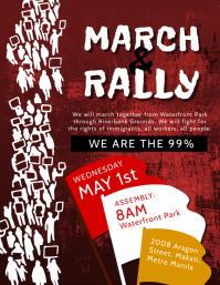 March and Rally Propaganda Poster