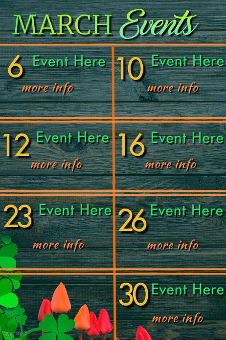March Events โปสเตอร์ template
