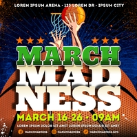 MARCH MADNESS BANNER Instagram na Post template