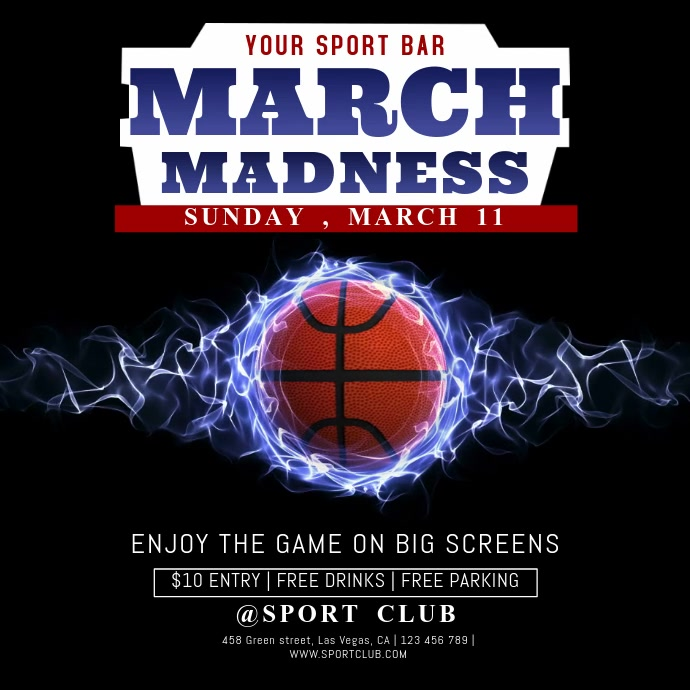March Madness Bar Event Video Template