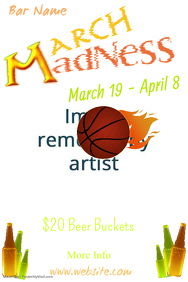March Madness Bar Poster