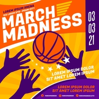 MARCH MADNESS BASKETBALL BANNER Message Instagram template