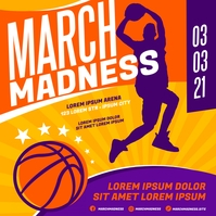 MARCH MADNESS BASKETBALL BANNER Instagram na Post template