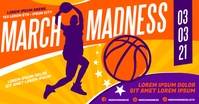 MARCH MADNESS BASKETBALL BANNER Imagen Compartida en Facebook template