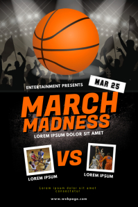 March Madness Basketball Event Flyer Template