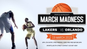 March Madness Basketball Facebook Cover Video