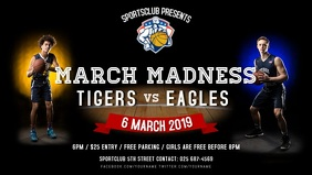March Madness Basketball Match Facebook Cover Video