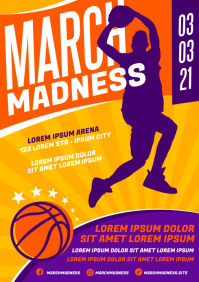 MARCH MADNESS BASKETBALL POSTER A4 template