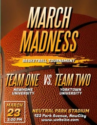 March Madness Basketball Video Flyer