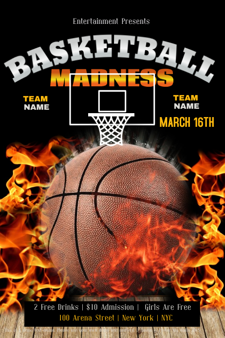 march madness flyers design studio