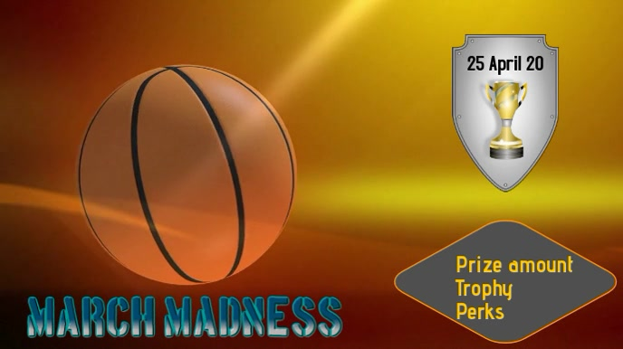 march madness Digitalanzeige (16:9) template