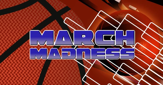 March Madness Facebook Gedeelde Prent template