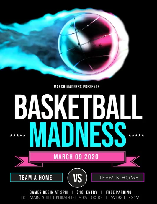 March madness Flyer (US Letter) template